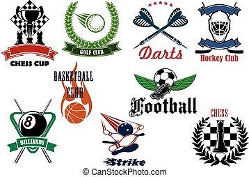 項目, heraldic, スポーツ, 紋章, アイコン