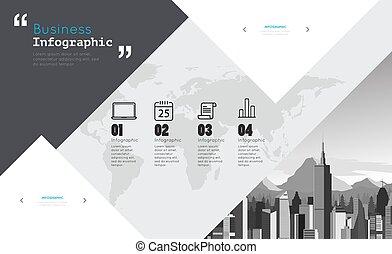 項目, infographic, 現代的商務