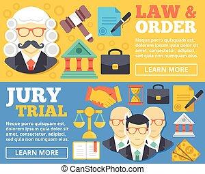 順序, 概念, 陪審, &, 裁判, 法律