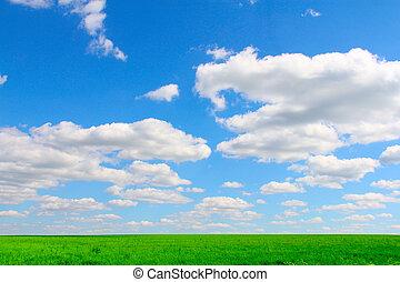 領域, 天空, 多雲, 在下面