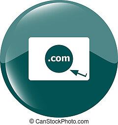 領域, com, 簽署, icon., top-level, 網際網路, 領域, 符號