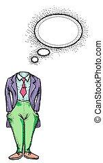 頭のない, イメージ, man-100, 漫画
