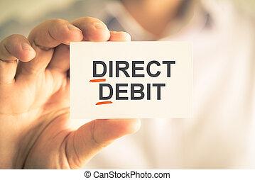 頭字語, テキスト, dd, 監督しなさい, 保有物, 借方, ビジネスマン, カード