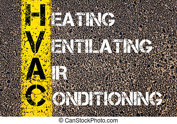 頭字語, ビジネス, ventilating, hvac, 加熱, 空気調節