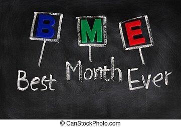 頭字語, 月, 今までに, 最も良く, bme