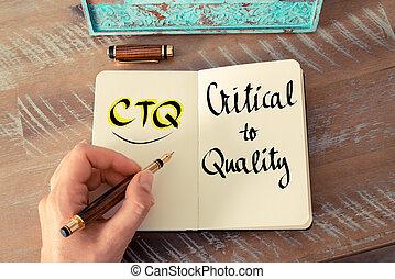 頭字語, 重大, 品質, ctq