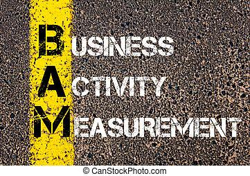 頭字語, bam, 活動, ビジネス, 測定