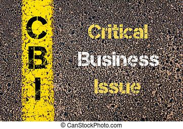 頭字語, cbi, 問題, 重大, ビジネス