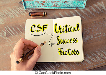 頭字語, csf, 重大, 成功, 要因