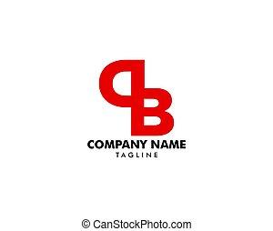 頭文字, 手紙, db, ロゴ, テンプレート, デザイン