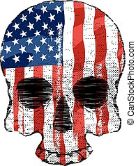 頭骨, 旗, アメリカ人