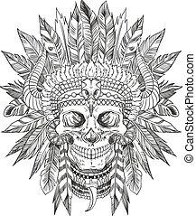 頭骨, 責任者, indian