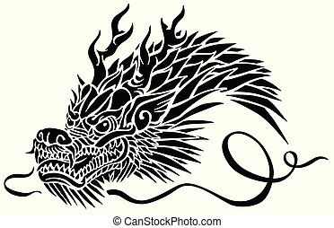 頭, アジア人, ドラゴン