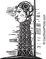 頭, タワー