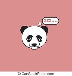 頭, パンダ, 睡眠