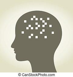 頭, ピクセル