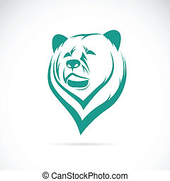 頭, ベクトル, イメージ, 熊