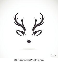 頭, ベクトル, 鹿, イメージ