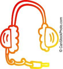 頭, 勾配, 電話, 図画, 暖かい, 線, 漫画
