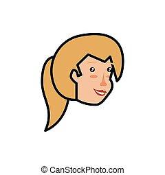 頭, 女, 特徴, avatar