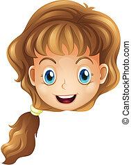 頭, 微笑の女の子
