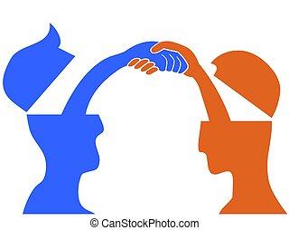 頭, 握手, 人々