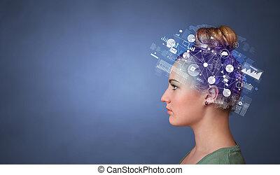 頭, 概念, 世界的である, 報告, フルである, 管理
