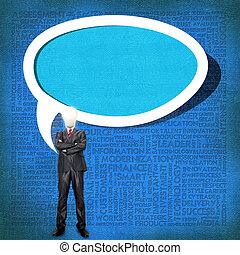 頭, 概念, 単語, ビジネス, 電球, 雲, 人