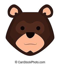頭, 灰色的熊, 圖象