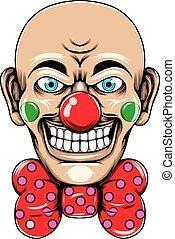 頭, 赤いタイ, ピエロ, 使うこと, 大きい微笑, 情報