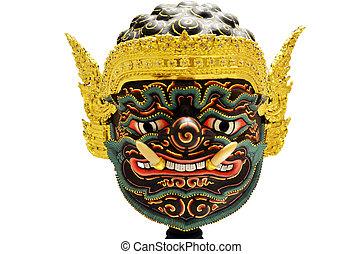 頭, 面罩, 巨人, 演員,  khon, 或者