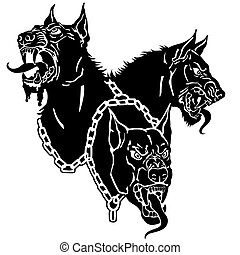 頭, cerberus, 黒