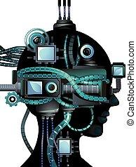 頭, cyberpunk, 人