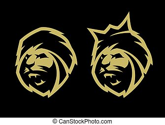 頭, options., ライオン, 王冠, 2, なしで