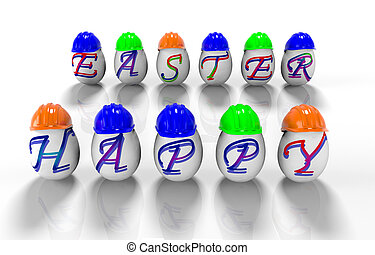 題字, 復活節,  render, 蛋,  -,  3, 愉快, 復活節,  D