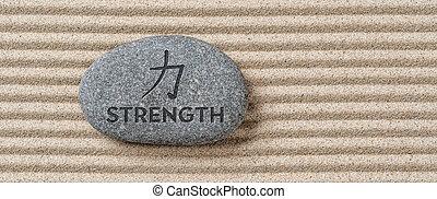 題字, 石頭, 力量