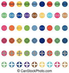 顏色, 不同, 箭, 輪