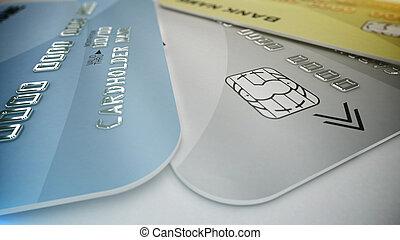 顏色, 信用卡