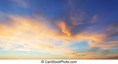 顏色, 僅僅, 天空, 由于, 紅色, 以及, 橙, 云霧