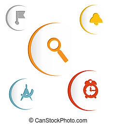顏色, 元素, ......的, infographics, 由于, 旗, 符號, 擴大, gla