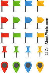 顏色, 別針, 以及, 旗, 彙整