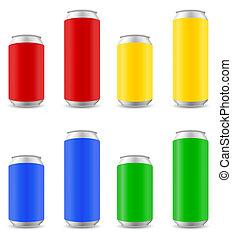 顏色, 啤酒, 插圖, 罐頭