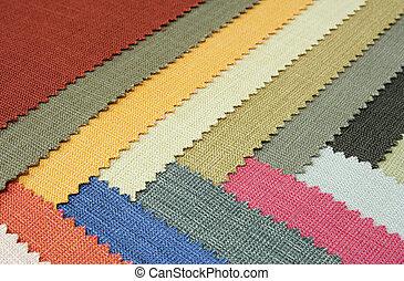 顏色, 多, 結構, 織品, 樣品