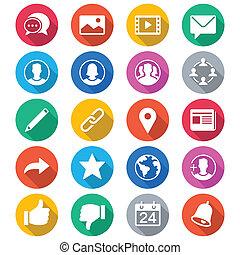 顏色, 套間, 社會, 网絡, 圖象