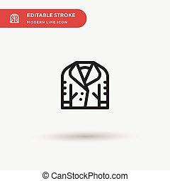 顏色, 完美, 符號, 現代, 网, stroke., ui, 短上衣, 項目, 簡單, 設計, 圖象, 插圖, icon., 事務, 你, element., 流動, editable, 樣板, 矢量, pictogram