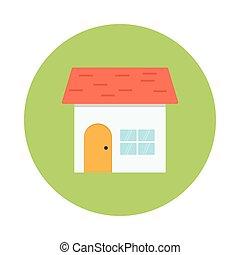顏色, 家, 環繞, glyphs, 圖象