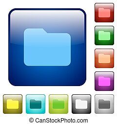 顏色, 按鈕, 文件夾, 廣場