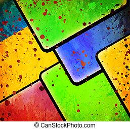 顏色, 摘要, 正方形