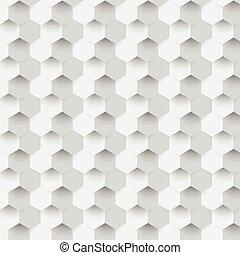 顏色, 摘要, 矢量, hexagonal., 3d