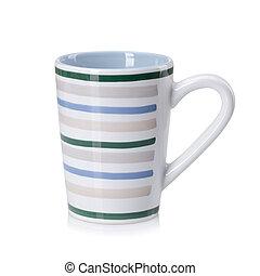 顏色, 白色, 茶碟, 被隔离, 杯子